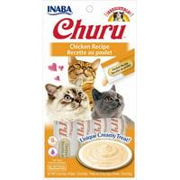 Inaba Churu Grain-Free Cat Treat, Chicken Puree, 4 Tubes