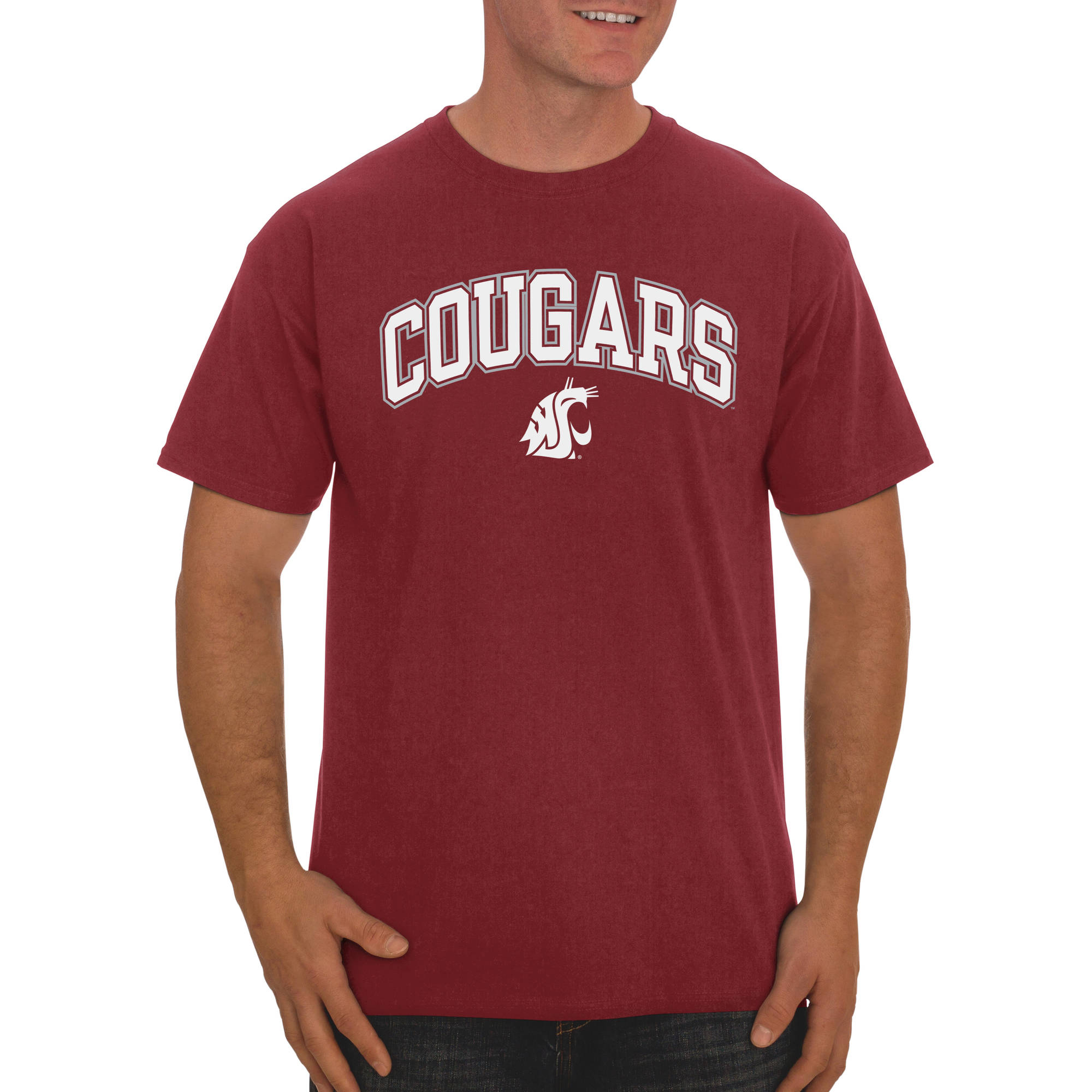 Russell NCAA Washington State Cougars Big Men's Classic Cotton T-Shirt
