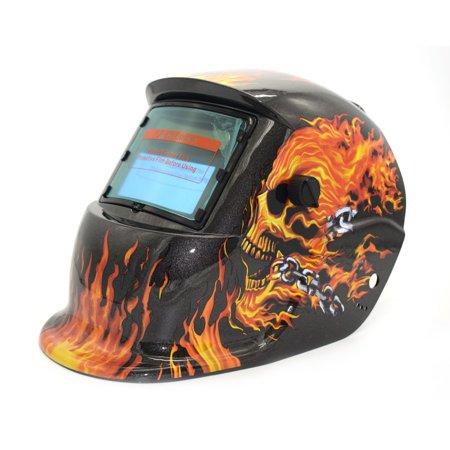 Solar Powered Auto Darkening TIG MIG MMA Electric Welding Mask Welder Cap - image 1 of 9