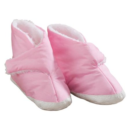 Women's Edema Poly Sherpa Lined Slippers - Ideal for Edema, Diabetic and Swollen Feet - Available in Multiple Styles](Foldable Slippers In A Bag)