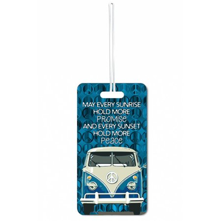 May Every Sunrise Hold More Promise Large Hard Plastic Double Sided Luggage Identifier Tag