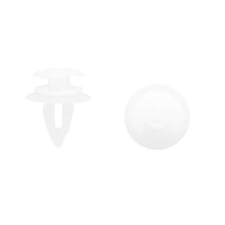 30Pcs Rivet Fixation Clips Blanc Plastique Trou 9mm Pare-Chocs Voiture - image 2 de 2