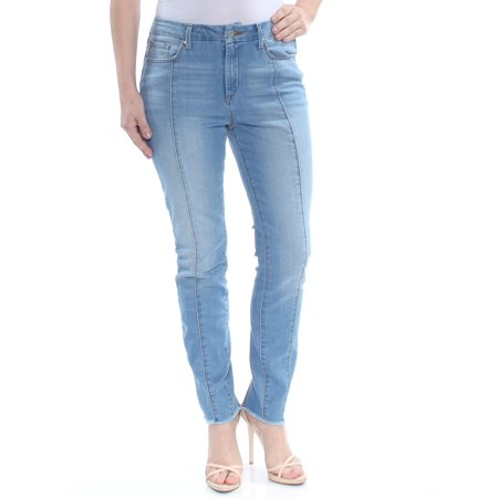 JESSICA SIMPSON Womens Blue Zippered Pocketed Darted Skinny Jeans  Size: 27 Waist