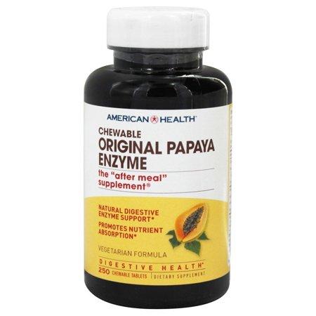 Papaya Enzyme Orgnl, American Health Original Papaya Enzyme Chewable - 250 Tablets By American Health Chewable Original Papaya