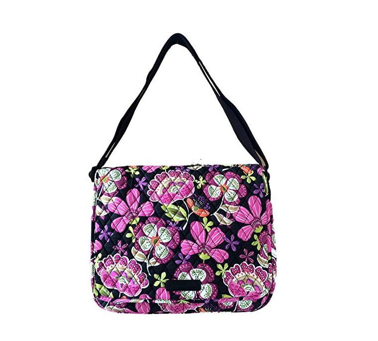 Vera Bradley Messenger Bag in Pirouette Pink with Black I...