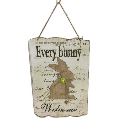 Easter Wooden Bunny Sign Decoration
