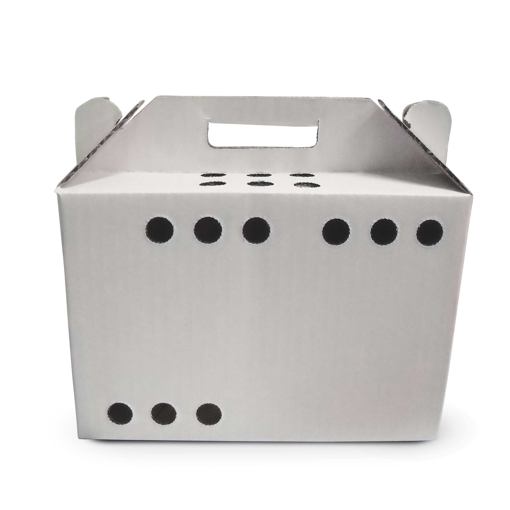 """Oasis Animal, Small Pet Carrier, Disposable, Cardboard, 5.5"""" x 7"""" x 10"""", Small, 12/CASE"""