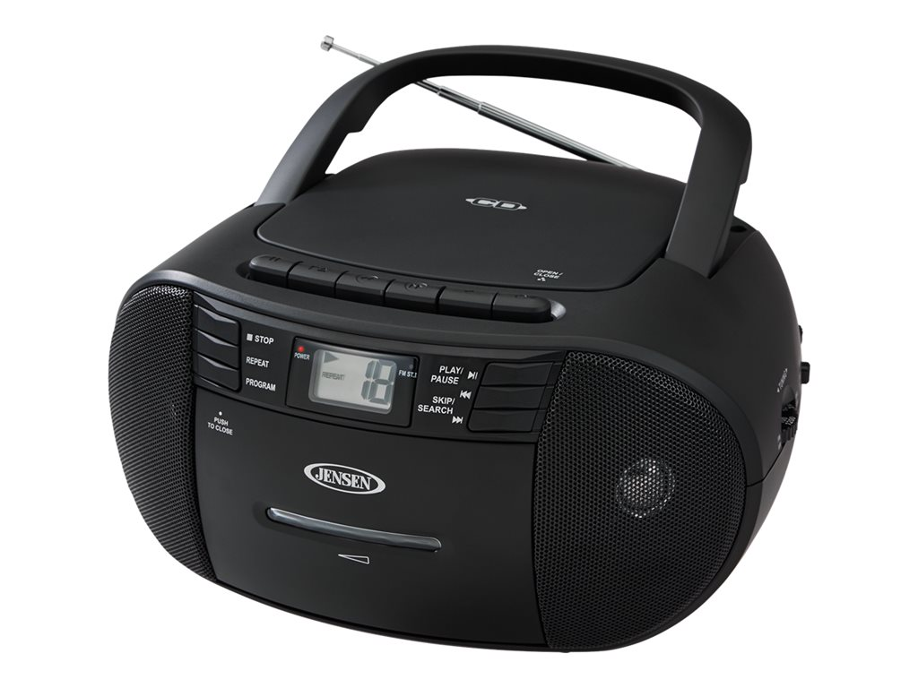 jensen cd 545 portable stereo cd player with cassette recorder and jensen cd 545 portable stereo cd player with cassette recorder and am fm radio walmart com
