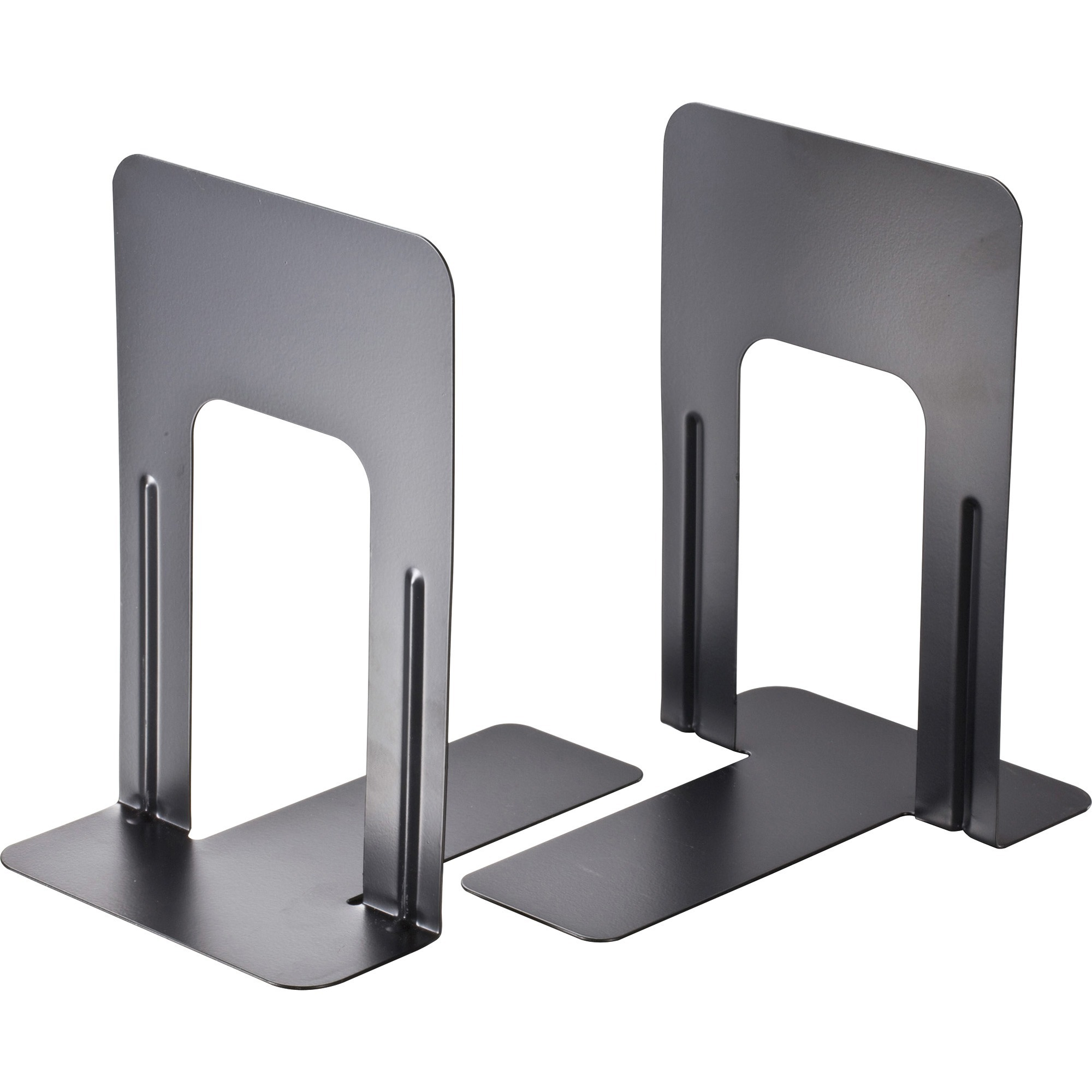 OIC Nonskid Bookends, Black, 2 / Pair (Quantity)