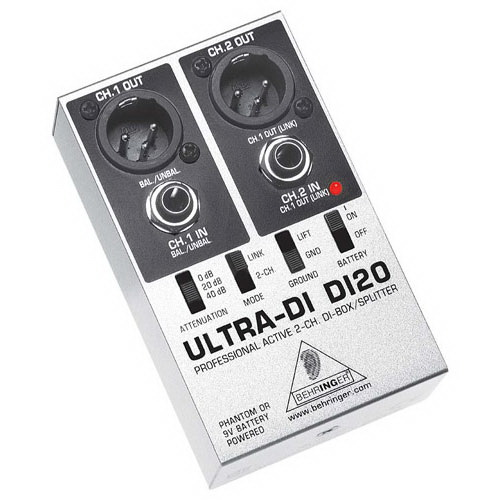 Behringer DI20 Ultra-DI Active 2-Ch Direct Box Splitter by Behringer