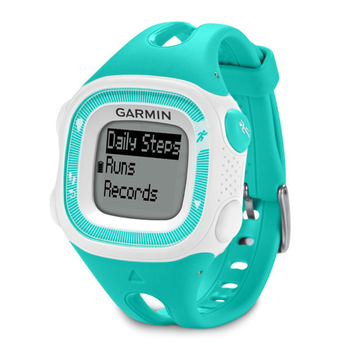 "Refurbished ""Garmin Forerunner 15, Small - Teal and White GPS Running Watch"""