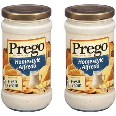 (2 Pack) Prego Homestyle Alfredo Sauce, 14.5 oz.