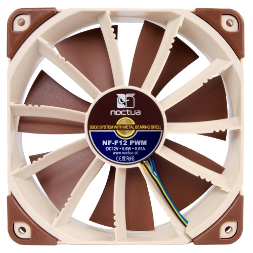 "Noctua Nf-f12 Pwm Cooling Fan - 1 X 4.72"" - 1500 Rpm - Sso2 Bearing (119060)"