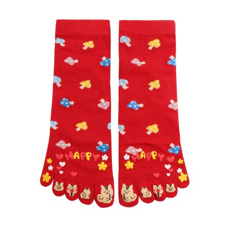Mushroom Socks (Women's Ankle Length Mushrooms Pattern Stretchy Toe Socks)