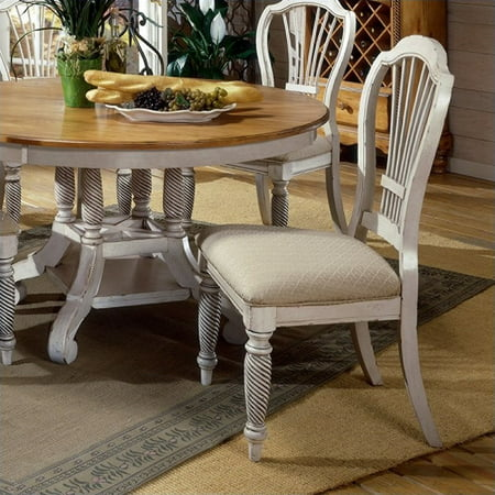 white fabric dining room chairs | Hillsdale Wilshire Fabric Dining Chair in Antique White ...
