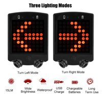 OTVIAP LED Bicycle Bike Turn Signals Rear Tail Warning Light USB Rechargeable Wireless Remote, Warning Light for Bike, Bike Rear Light