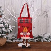 AkoaDa Reusable Christmas Tote Gift Bags With Handles Large Holiday Party Favor Bags