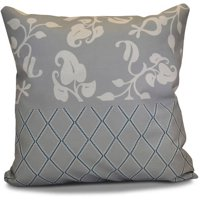 "Simply Daisy 16"" x 16"" Scroll Dot Floral Print Outdoor Pillow"