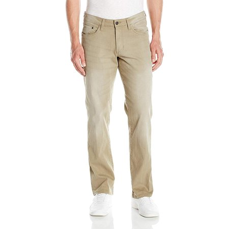 Izod Men's Comfort Stretch Denim Jeans (Regular,Straight, and Relaxed Fit), Khaki, 42Wx30L - image 1 de 1