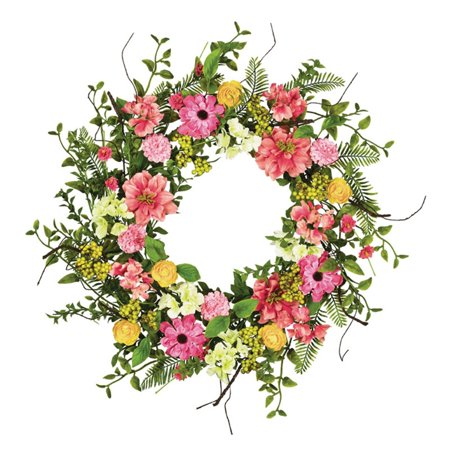 Sullivans Artificial Spring Flower and Berry Wreath ()