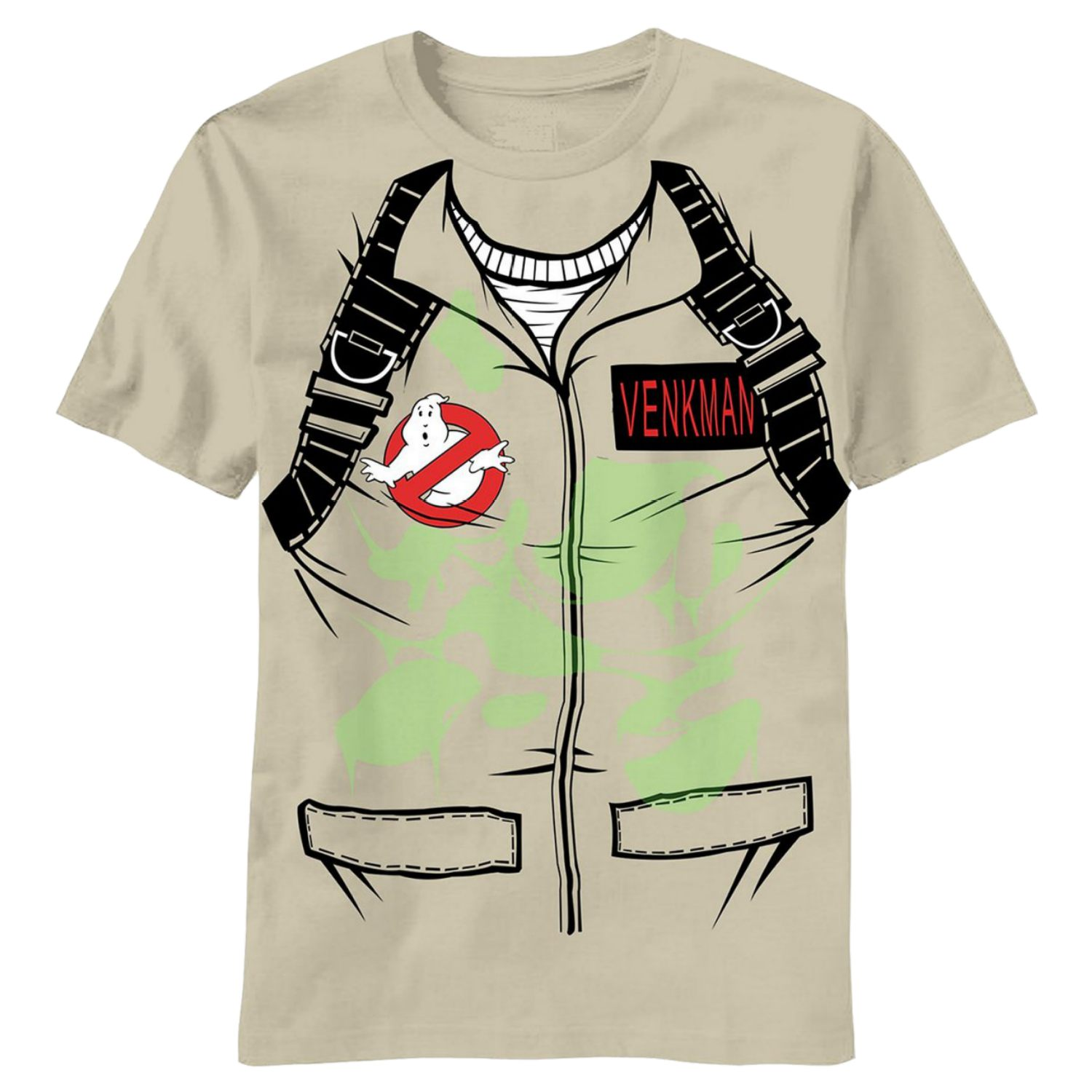 Ghostbusters Mens Glow In The Dark Green Slime Venkman Costume T-Shirt