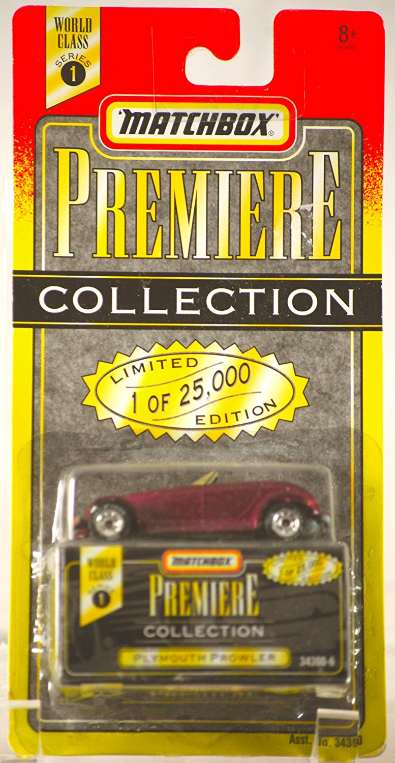 premiere collection purple plymouth prowler series 1 25000, 1995 Tyco Toys Matchbox... by