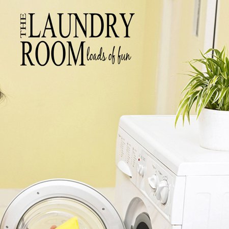 The Laundry Room Loads of Fun Decal Laundry Room Decor Wall Art Sticke