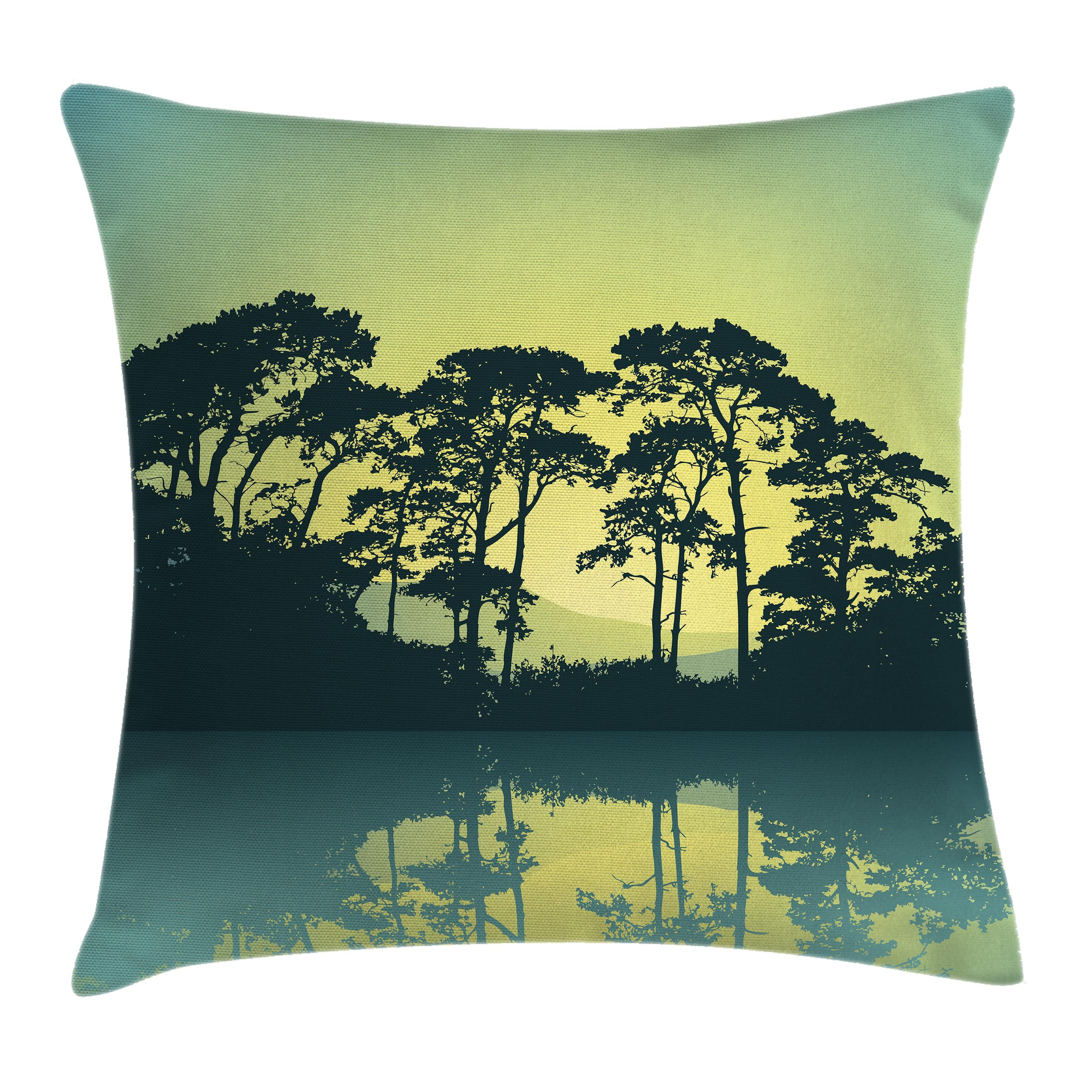 River Forest Apartments: Apartment Decor Throw Pillow Cushion Cover, Mystic Forest