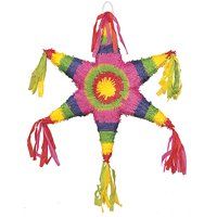Star Pinata, Multicolor, 22in x 19in