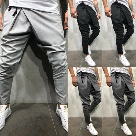 New Mens Slim Fit Tracksuit Bottoms Skinny Jogging Joggers Sweat Pants Trousers ()