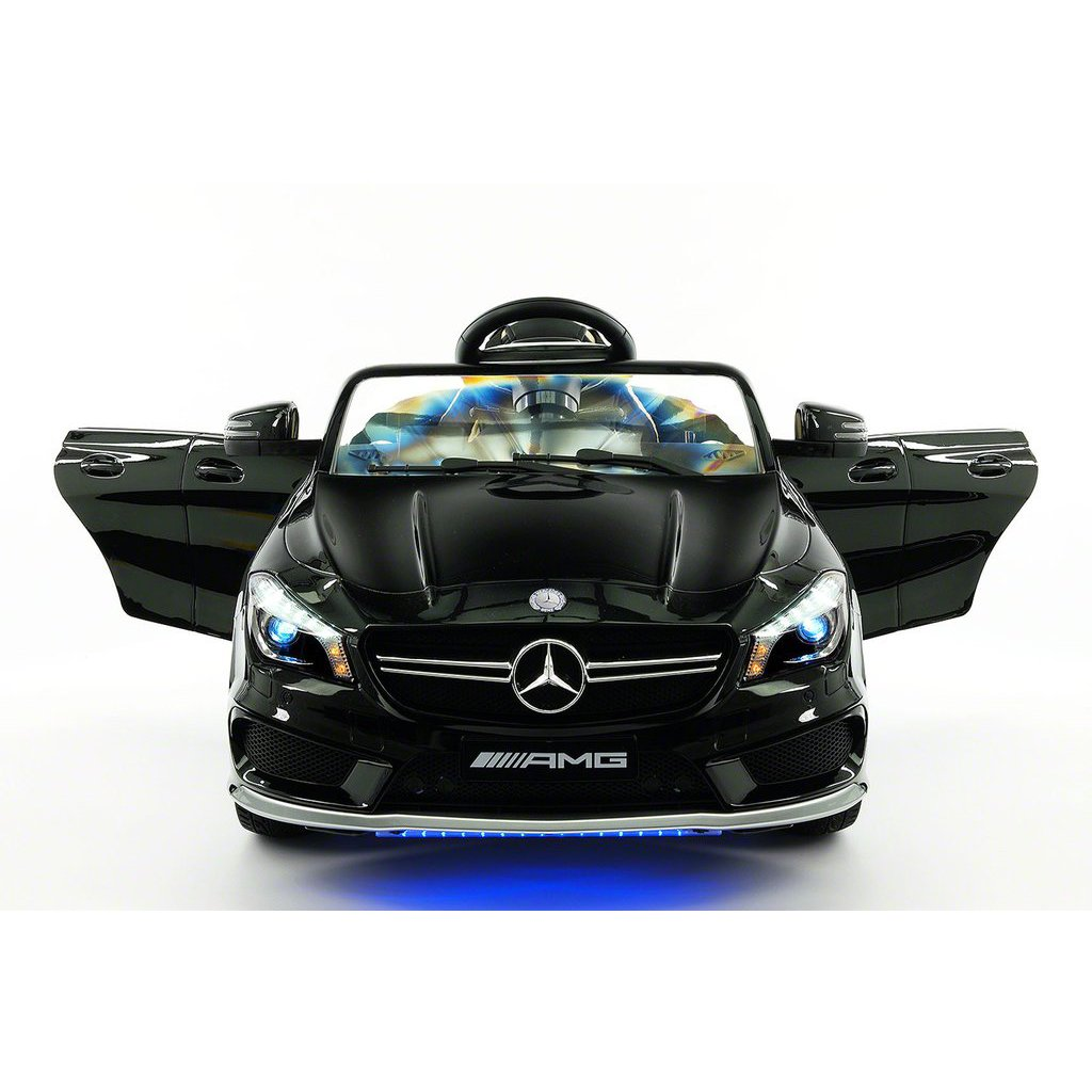 2017 Licensed Mercedes CLA45 AMG Electric Kids Ride-On Car,Girls&Boys,2-5 Years,MP3 Player,AUX Input,USB,Rubber Tires,PU Leather Seat,LED Body Trim,12V Battery Powered,Parental Remote|Black Metallic