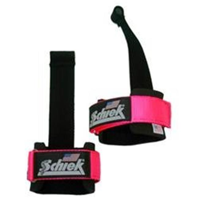 Schiek Sports S-1000DLS-P Power Lifting Straps With Dowel, Pink