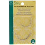 "Dritz Quilting 2"" & 2.5"" Curved Needles for Tying Quilts, 4 Pack"