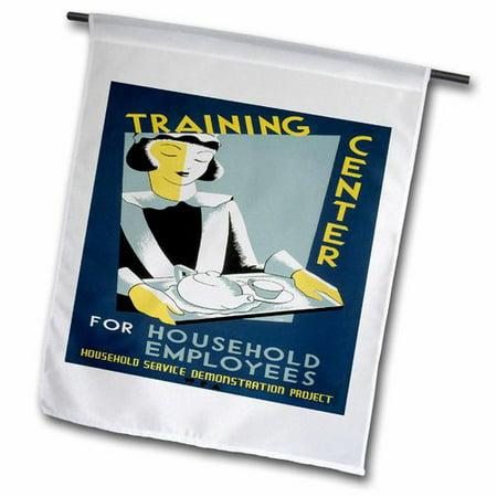 3dRose Training Center for Household Employees Polyester 1'6'' x 1' Garden