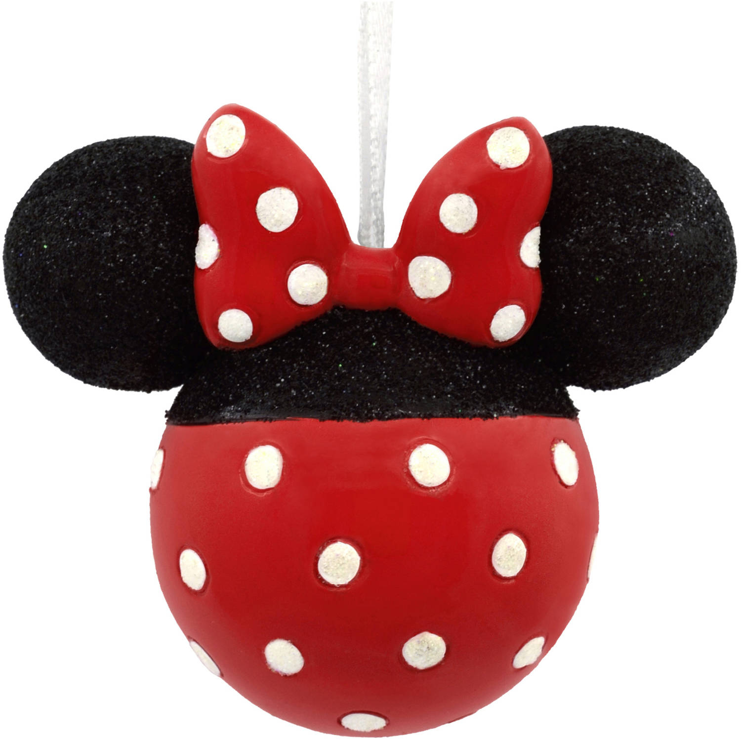 Hallmark Disney Minnie Mouse Glitter Icon Head Ornament