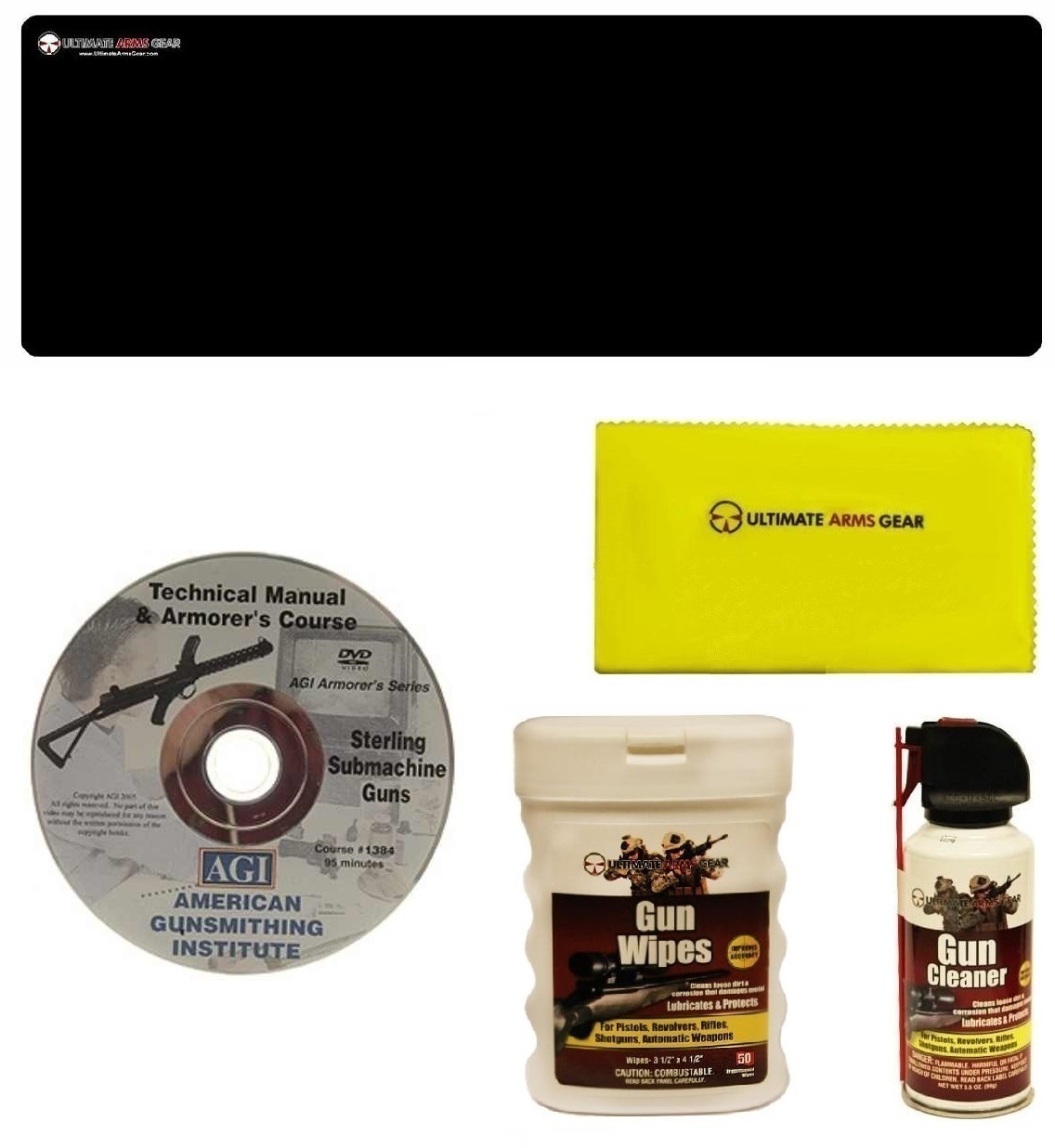 AGI DVD Manual & Armorer's Course Sterling SMG Submachine Gun + Ultimate Arms Gear Gunsmith & Armorer's Cleaning Bench... by