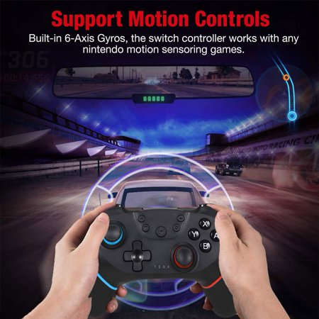 Wireless Controller for Nintendo Switch Pro,Remote Controller Gamepad Joypad for Nintendo Switch Console w/ Gyro Axis, Turbo Dual Vibration - image 4 of 9