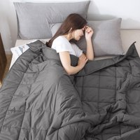 Stress Reducing Weighted Blanket 12lbs, 15lbs, 20lbs Light or Dark Gray