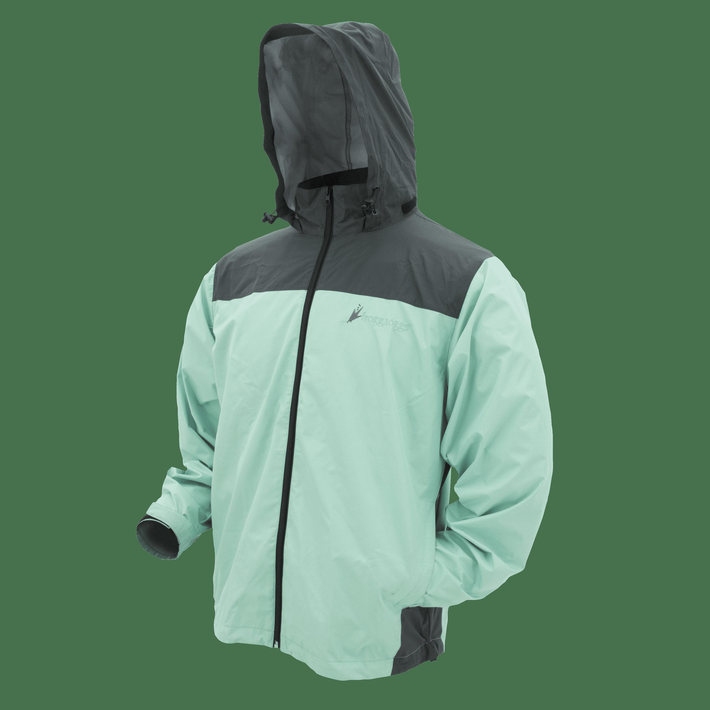 Frogg Toggs River Toadz Lightweight Adult Rainwear Jacket - Womens, S/M, Seafoam/Gray