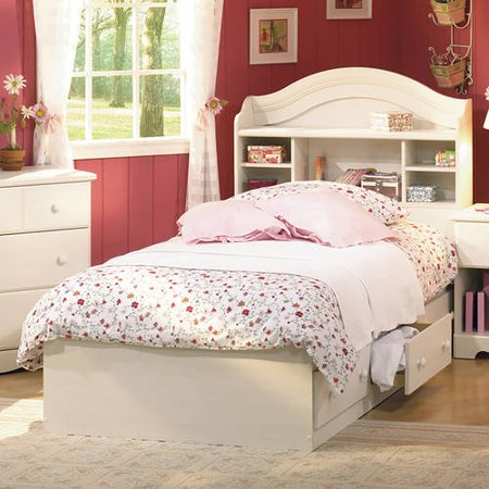 South Shore Summer Breeze Twin Mates Bed and Headboard, Multiple Finishes (South Shore Mates Bed)