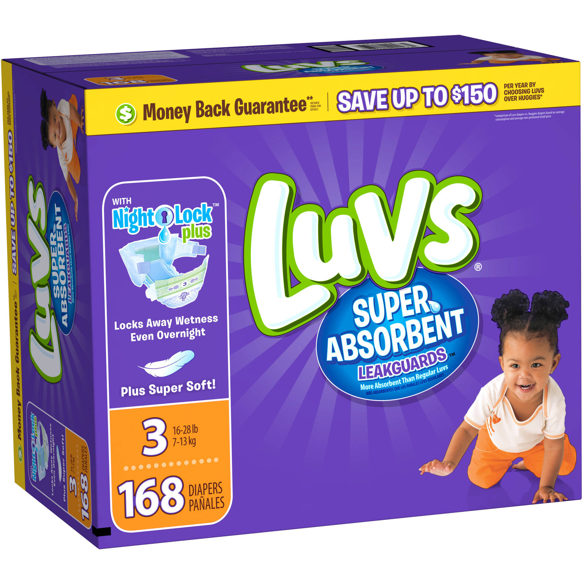 Luvs Super Absorbent Diapers, Giant Box, (Choose Your Size)