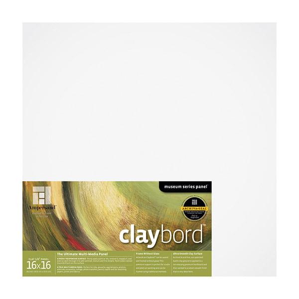 "Ampersand Claybord? Panel 1/8"" Flat 16x16"""