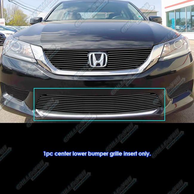 APS Fits 2013-2015 Honda Accord Sedan Black Bumper Billet Grille