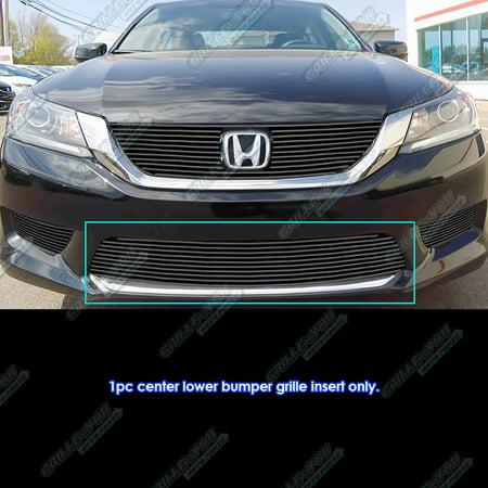 Honda Accord Billet Grille - Fits 2013-2015 Honda Accord Sedan Black Bumper Billet Grille