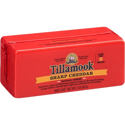 Tillamook Sharp Cheddar Cheese, 2 lb