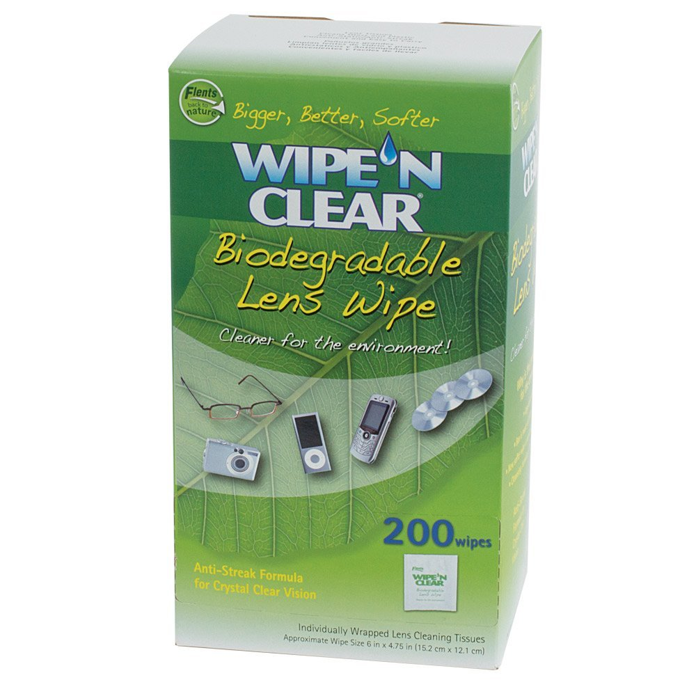 200 Wipe N Clear Lens Cleaning Cloths, 200ct Biodegradabl...