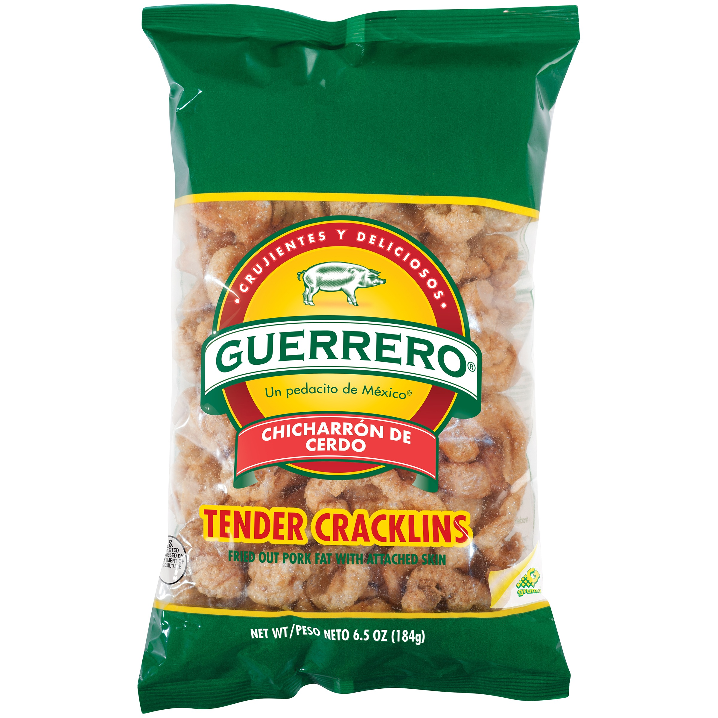 Guerrero® Tender Cracklins 6.5 oz. Bag