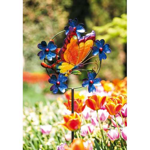 Evergreen Enterprises, Inc Gentle Butterfly Kinetic Garden Stake
