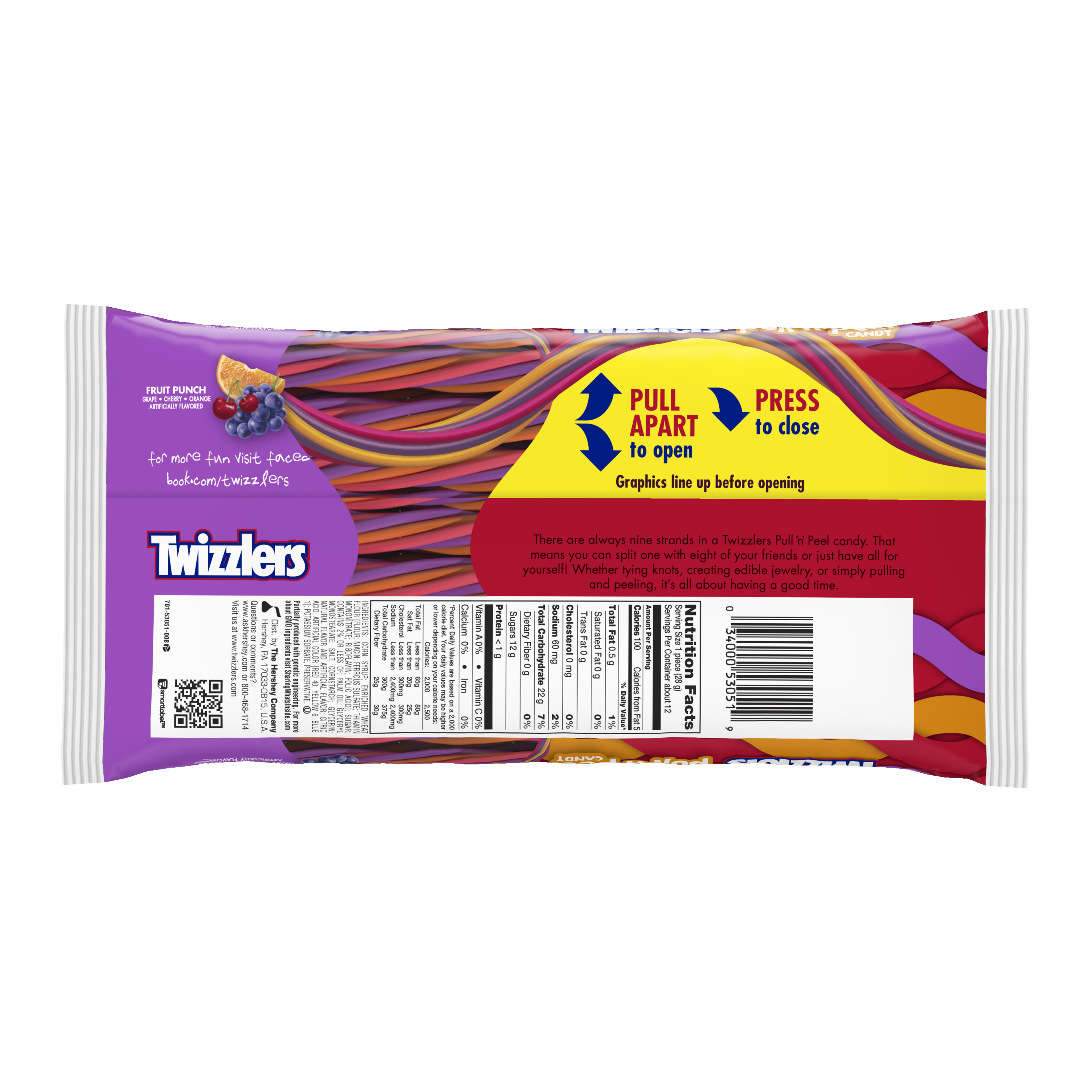 a469774dd57b4 Twizzlers Pull  n  Peel Fruit Punch Licorice Chewy Candy