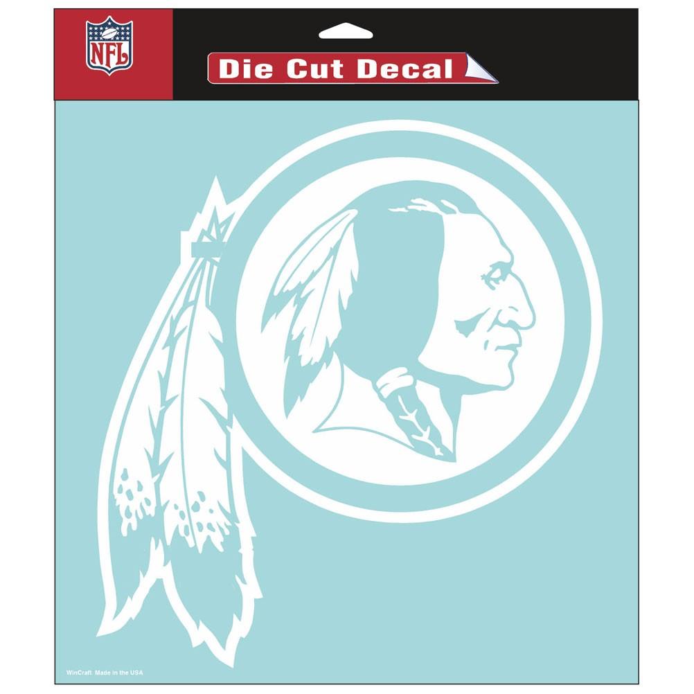"Washington Redskins Die-cut Decal - 8""x8"" White"